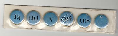 Talking Heads, Speaking In Tongues; Set Of 6 Promo Buttons, New