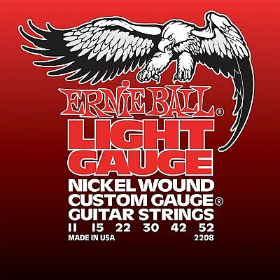 Ernie Ball Electric Guitar Strings Light Nickel Wound Set With Wound G, .011