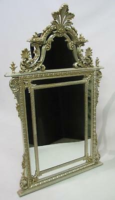 LaBarge French Style Silver Finish Mirror With Elaborate Scrollwork; 61.5""