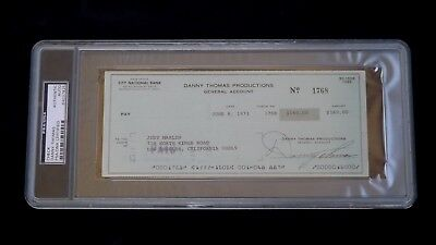 1973 Danny Thomas Productions Check Psa/Dna Signed Auto Actor Afl Miami Dolphins