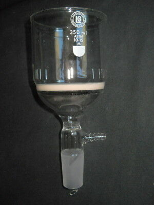 Lab Glass 29/42 Joint Medium Fritted 350mL Vacuum Buchner Filter Funnel