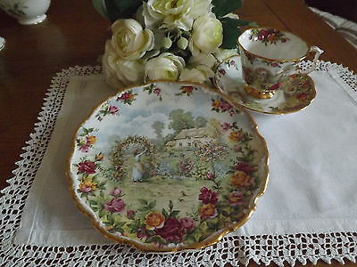 Royal Albert A Celebration of the old Country Roses Garden cup saucer & plate