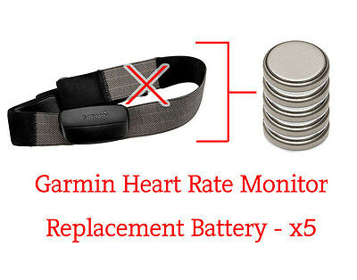 ☑️ Garmin Heart Rate Monitor - Replacement Battery - x5