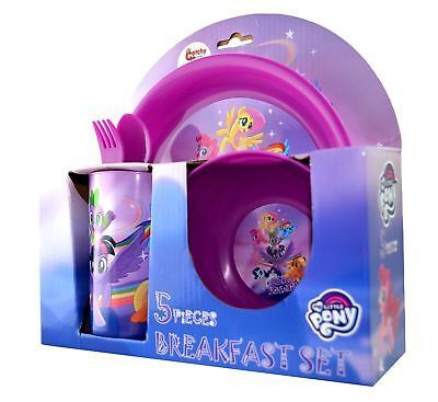 5 Piece Breakfast Dinner Set My Little Pony 'Friendship'  Brand New Gift