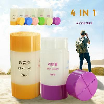 Empty Plastic Lotion Shampoo Cosmetic Bath Container Travel Packing Bottle New