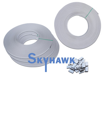 """STRAPPING RE-SUPPLY KIT 10rolls (1725ft) 5/8"""" Poly Strap + 600pcs Metal Seals"""