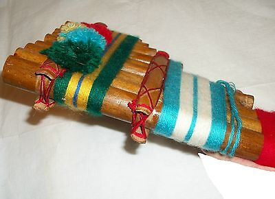 Vintage Bamboo Andean Panpipe Panflute Pan Flute Folk Art Musical Instrument