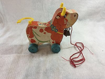 Fisher Price Bossy Bell Cow pull toy