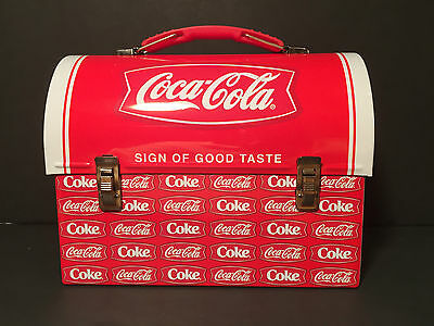 Coca Cola Tin Workman's Domed Carryall/Lunchbox - Sign of Good Taste - NEW