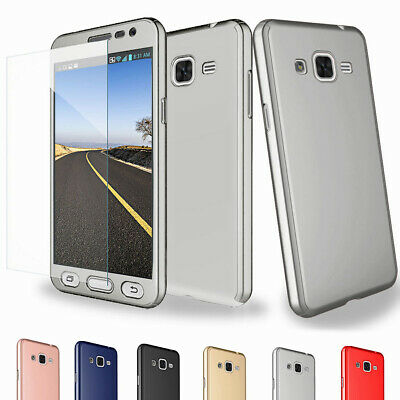 360 Shockproof Hybrid PU Case Cover+Tempered Glass For Samsung Galaxy Note 5 4 3