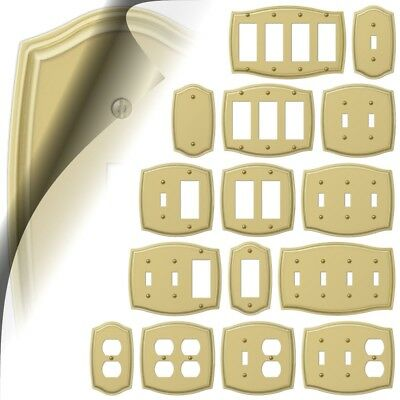 Wall Switch Plate Cover Sonoma Polished Brass Outlet Toggle Rocker