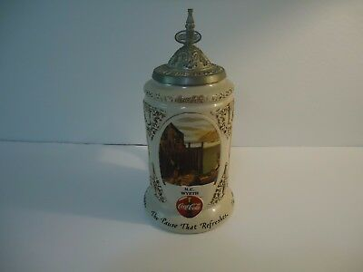 Coca-Cola Stein-Coke-2001 Early Illustrators Stein Series-Ceramarte-Rockwell
