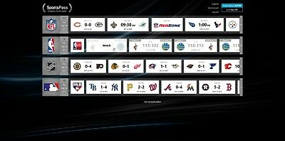 NBA/NHL/NFL/MLB Sports Pass Account with Warranty