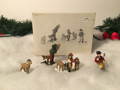 New Department 56 Heritage Village Series Heidi & Her Goats Set Of 4 #56201