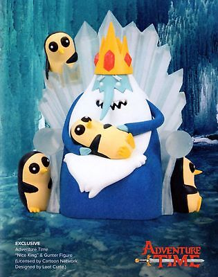 Adventure Time 'Nice King' & Gunter Figure - Adult Swim/Loot Crate Exclusive
