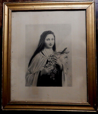 "St.Therese (the little flower) of Lisieux 6"" x 8"" Image Framed Religious Print"