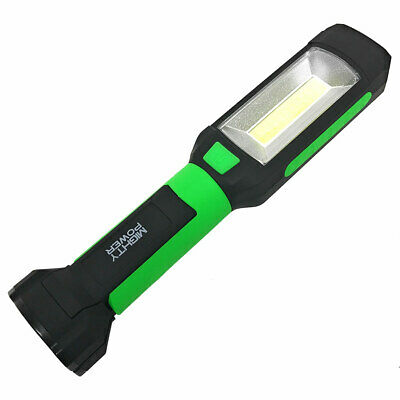 Mighty Power LED Battery Operated Work Light, Green-Black, 8.75x1.5 Inches