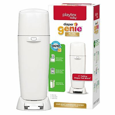 Playtex Baby Diaper Genie Elite Diaper Pail System with Front Tilt Pail for Easy