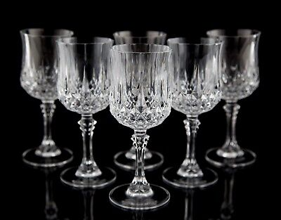 Cristal D'Arques Longchamp Lead Crystal Wine Goblets, Set of (6), Multiple Sets
