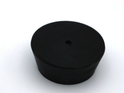 Black Natural Rubber Laboratory Stoppers Size 11.5 1 HOLE STOPPER 1/pk RS-11.5H