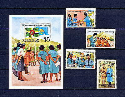 ALAC 065  DOMINICA  Girl Scouts & Girl Guides 1985  MNH