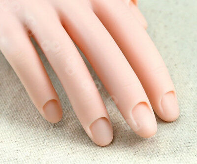 MOVABLE SOFT PRACTICE Hand For Nail Art Tips Training Finger ...