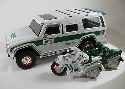 2004 Hess Annual Holiday Collectible Sport Utility Vehicle & Motorcycles — MIB!!