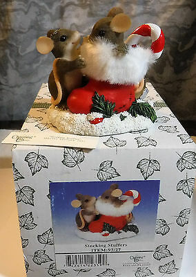 """Charming Tails """"Stocking Stuffers"""" Fitz and Floyd Figurine"""