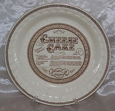 Vintage Royal China Jeannette-Deep Dish CHEESE CAKE Pie Plate/Baker Recipe VGUC