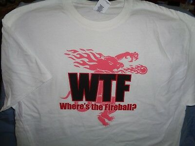"Wtf ""where's The Fireball?"" Cinnomon Whiskey T Shirt / Top Large - New!"