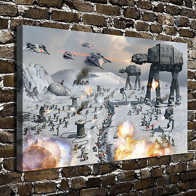 "STAR WARS Paintings HD Canvas Print 16""x24""Home Decor Room Wall Art Pictures"