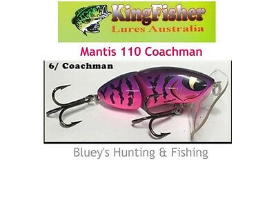 Kingfisher Mantis 110 mm articulated surface lure; 06 Coachman Purple