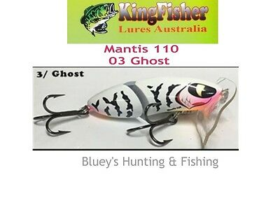 Kingfisher Mantis 110 mm articulated surface lure; 03 Ghost