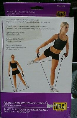 Everlast. Pilates. Dual Resistance Tubing. Stretch and Toning. Women's