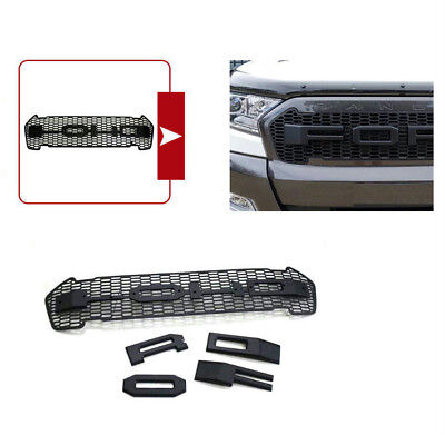Front Grill Grille DROF Black Logo Fits RANGER T6 PXII MK2 Wildtrak Cab 2015-ON