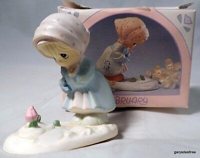 Precious Moments FEBRUARY Miniature Monthly Figurine 1989 573310