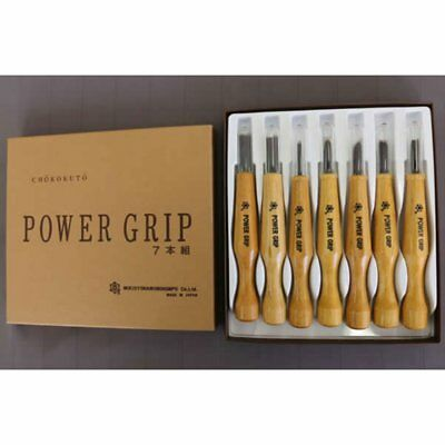 Mikisho power grip carving tool  7pcs set 800077 Japan F//S new w//Tracking#
