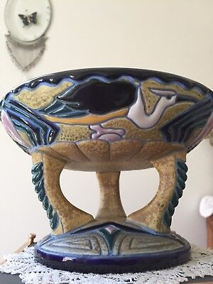 1920's AMPHORA COMPOTE Bohemia/Czechoslovakia Footed Display Piece