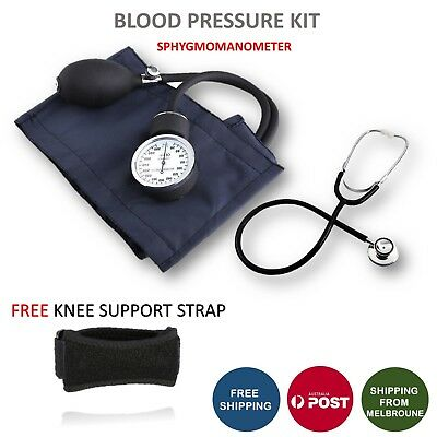 Aneroid Sphygmomanometer Arm Blood pressure Monitor Stethoscope Cuff Dial Kit AU