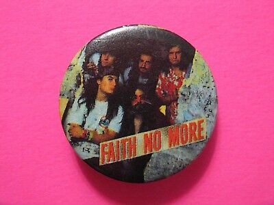 Faith No More Official Vintage 1989 Button Pin Badge Us Made Group