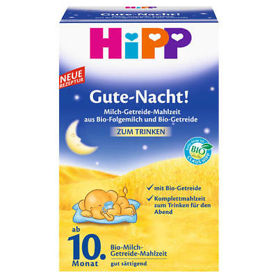 Hipp Good night ! Organic milk cereal meal of follow-on milk and grains 500g New