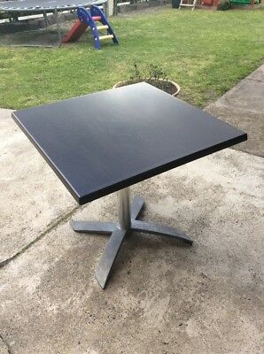 Square Restaurant Cafe Table; Folding Top