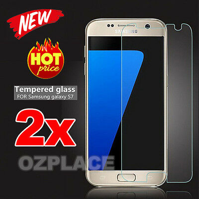 2x LCD Tempered Glass Cover For Samsung Galaxy S7 G9300 Screen Protector