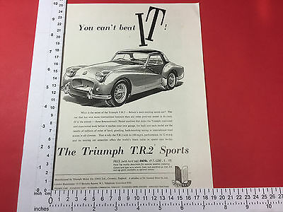 Triumph T.R.2 Sports advert from September 1955 TR2