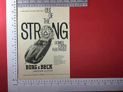 Jaguar E Type 1961 Borg & Beck friction clutch advert