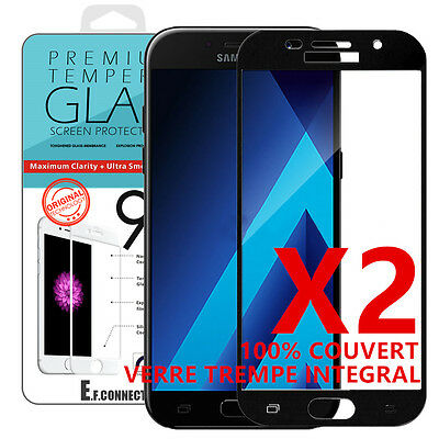 SAMSUNG GALAXY A5/A3 2017/2016 VITRE VERRE TREMPE Film protection écran Full