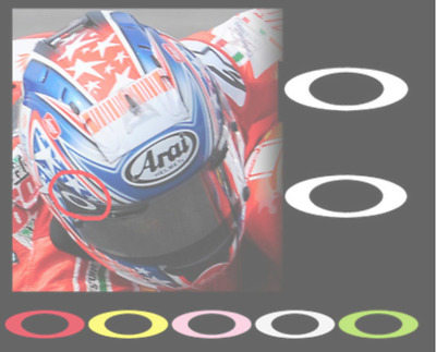 Rossi Marquez Vinales Sponsor Ovals Decals Stickers for Helmet Visor ANY COLOUR