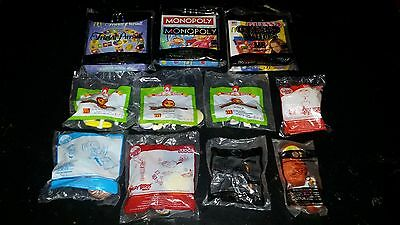 Mixed Lot of 11 Collectable McDonalds Happy Meal Toys