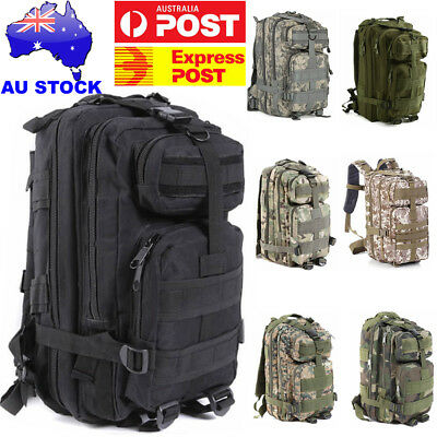 35L Hiking Camping Bag Army Military Tactical Trekking Rucksack Backpack Camo AU
