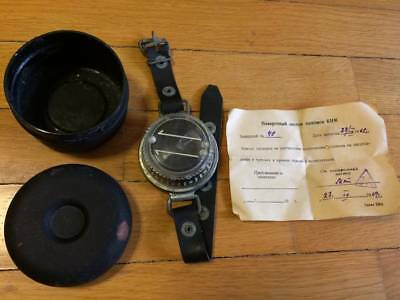 RARE Vintage Soviet Russian Military Diving Compass KNM 100% Originl